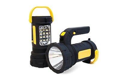 Emergency Lantern AA Car Essentials 2 in 1 Powerful Spot Torch with LED Camping