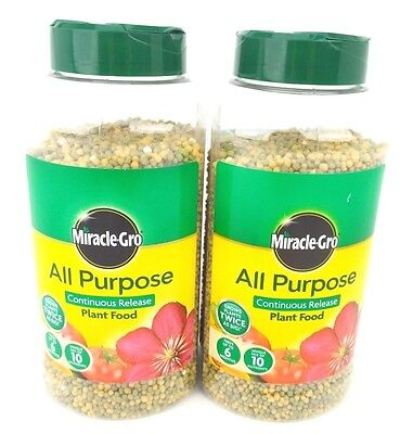 Scotts Miracle-Gro All Purpose Continuous Release Plant Food Shaker Jars, 2kg