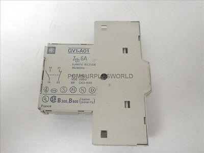 GV1-A01 GV1A01 Telemecanique Auxiliary Contact 6A 660V 50/60Hz (Used and Tested)