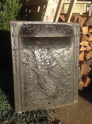 Antique Cast Iron Fire Surround With Cast Iron Insert Cover