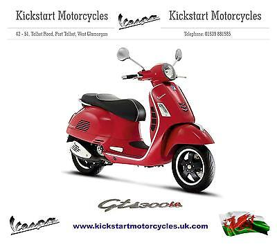 Vespa GTS 300 ie SUPER ABS ASR RED  **BRAND NEW** Unregistered SAVE  !!!!!