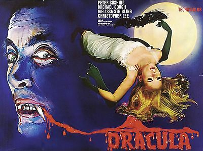 """Dracula 1958 16"""" x 12"""" Reproduction Movie Poster Photograph 2"""