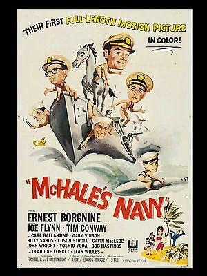 """McHALES Navy 16"""" x 12"""" Reproduction Movie Poster Photograph"""