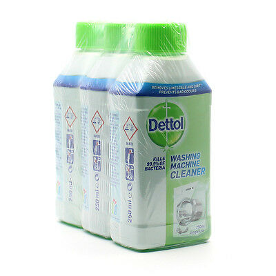 New Dettol Washing Machine Cleaner 250ml 3 pack