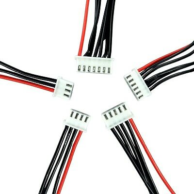 JST XH 2S 3S 4S 5S 6S 22cm 30cm Balance Extension Silicone Wire Lead Cable Lipo