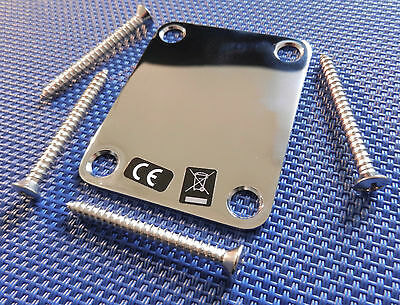 Vintage 50s RI Fender P Bass NECK PLATE Precision 57 Chrome Guitar Parts