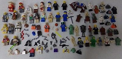 Large Lot of Lego Minifigs, Weapons, Body Parts ~ Star Wars And More!