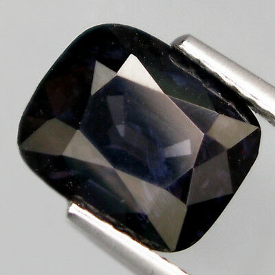 2.71ct. Dunkel Titanium Blauer 8.7 x 7.2 mm Tansania Cushion Spinell