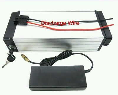 36v 11ah e-bike lithium battery rack mount with 2A charger