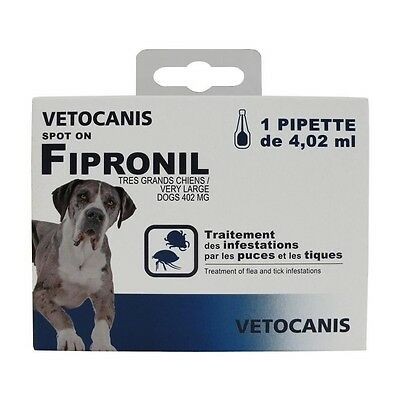 VETOCANIS Pipette Spot-on Fipronil - Pour tres grand chien