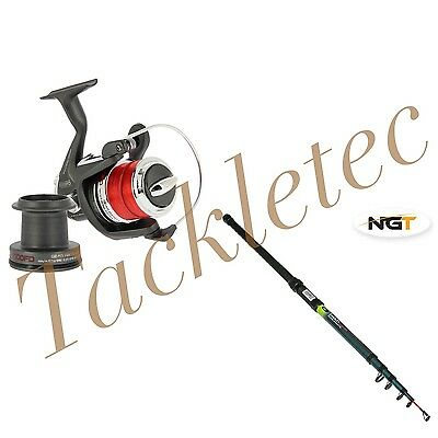 NEW 12ft Telescopic Beachcaster (3.6m) 2-5oz AND BM500FD SEA REEL COMBO