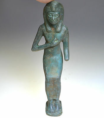 Egyptian Bronze Figurine of Isis, the Egyptian goddess of rebirth
