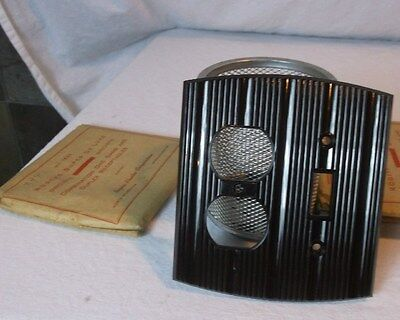 Curved Brown Bakelite Wall Switch/Outlet Combo Vintage NOS Switchplate Art Deco