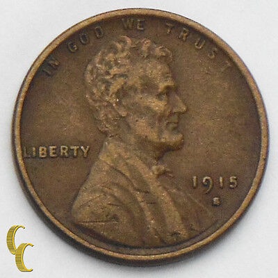 1915-S Lincoln Head Wheat Cent Penny 1c (Extra Fine, XF Condition)