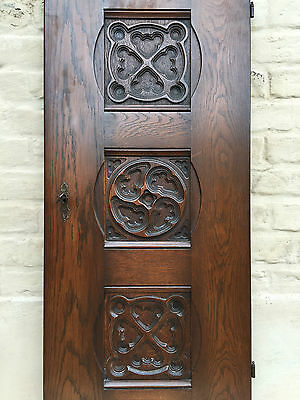 Beautiful Big Size Gothic Door Panel / Religious Carving in oak