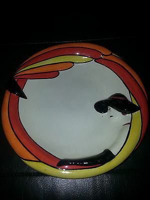LORNA BAILEY ART DECO LADY plate Excellent Condition FREE P&P +