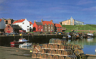 OLD POSTCARD - SCOTLAND - Dunbar, East Lothian from the harbour