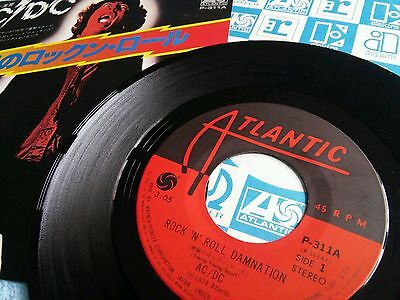 """ACDC Japanese 7"""" Rock n Roll Damnation"""