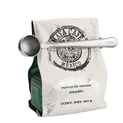 Stainless Steel Coffee Scoop with Bag Clip Measuring Spoon