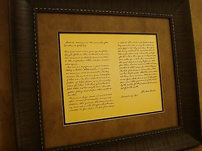 The Gettysburg Address by Abraham Lincoln PRINTED PARCHMENT PAPER FRAMED