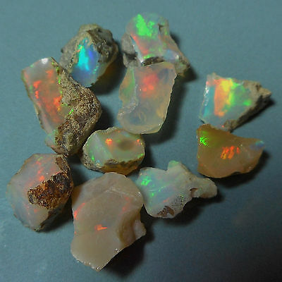 10 petites opales brutes d'Ethiopie 10 cts VIDEO Welo opal rough collection