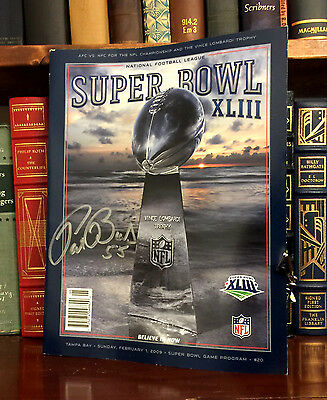 Super Bowl XLIII Program HAND SIGNED by Patrick Bailey! Pittsburgh Steelers!