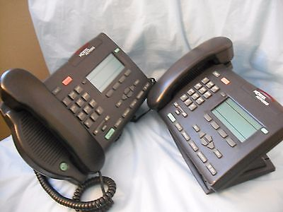 Lot of (2) Two Nortel M3903 Charcoal Business Multi Line Office Phone