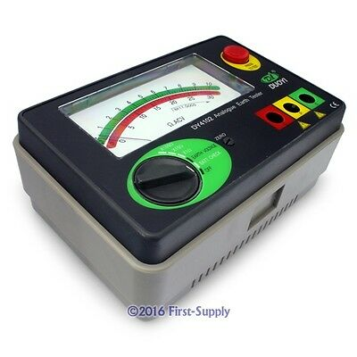 Analog Ground Earth Resistance Insulation Tester Meter 10/100/1000Ω AC30V NEW