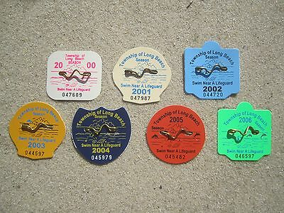 7 Year Collection ( Lbi ) Long Beach Township  New  Jersey Beach Badges/tags
