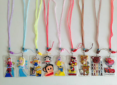 Minion Frozen Oyster Bus Student ID Card,Access Card Holder Lanyard