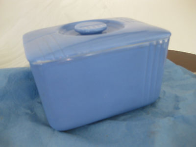 ANTIQUE REFRIGERATOR covered Box Bowl WESTINGHOUSE made by HALL CHINA CO Blue