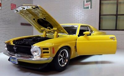 1:24 1970 Scale Ford Mustang V8 Boss 429 Coupe Diecast Detailed Model Yellow