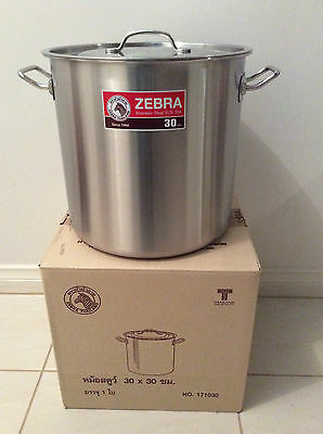 Brand New Stainless Steel Stock Pot 30cm