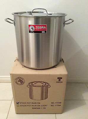 Brand New Stainless Steel Stock Pot 36cm