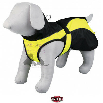 Safety Dog Coat, windproof, slot for attaching lead, Velcro fastening Reflective