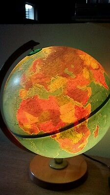 12 Inch Replogle World Horizon Series Lighted World Globe With Wood Base xxx