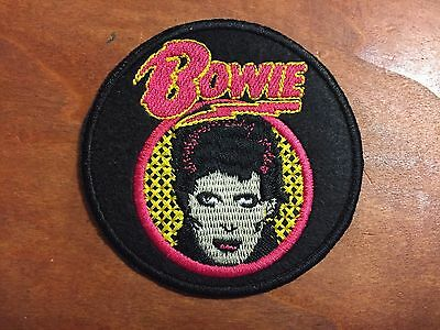 """DAVID BOWIE ZIGGY STARDUST Patch - Embroidered Iron On Patch 3 """""""