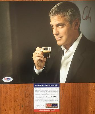 George Clooney - Signed Nespresso Commercial 8x10 Photo - PSA/DNA Autograph COA
