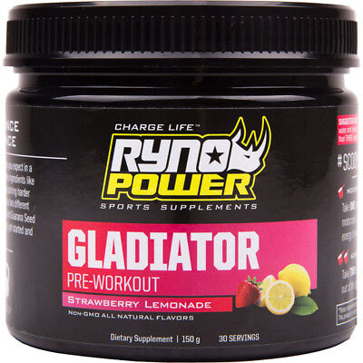 NEW Ryno Power Gladiator Pre Workout Tub 30 Servings Sports Training Supplements