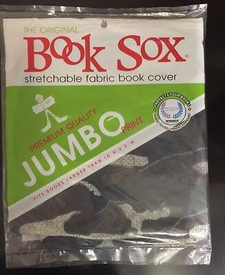 The Original Book Sox Stretchable Fabric Book Cover◾Jumbo Size Books◾Camouflage
