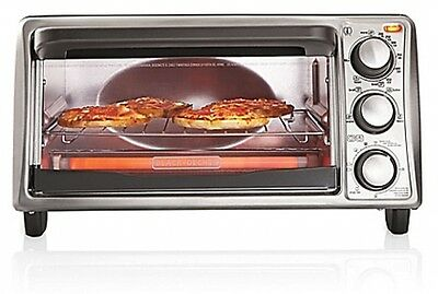 Toaster Oven Black and Decker? 4-Slice Electric Baking Broil Stainless steel