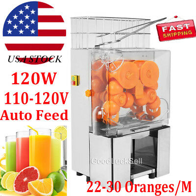 Electric Press Orange Squeezer Commercial Citrus Juicer Fruit Juice Extractor US