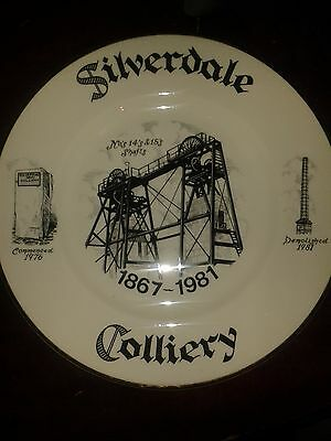 Silverdale Colliery Plate 1867-1981.No.14 & 15 Shaft.