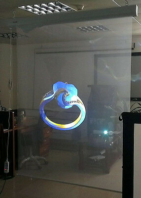 SelfAdhesive Holographic Transparent Rear Projection Screen Material Window Film