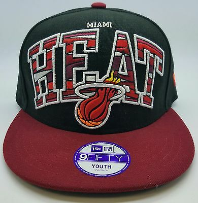 new concept 2979e 3f9c3 Miami Heat New Era NBA HWC Youth Out of Line 9FIFTY Snapback Hat Cap