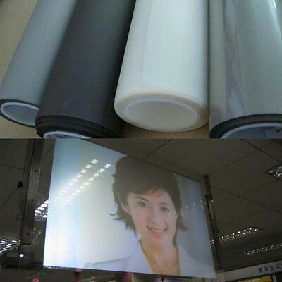 """Self Adhesive Holographic Rear Projection Screen Material Window Film 60""""X20"""""""