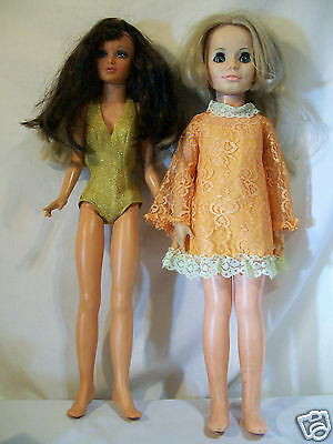 Vintage Ideal Growing Hair Kerry w/Crissy outfit and Tuesday Taylor Doll