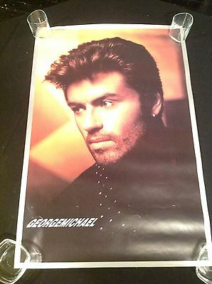 "George Michael WHAM Vintage 1990 Promotional Columbia Music 24 X 36"" Poster"