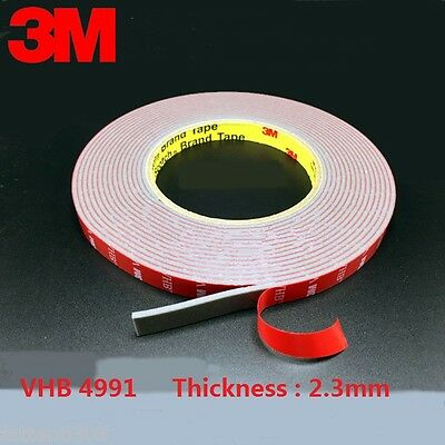 3M VHB 4991 Gray Double-sided Acrylic Foam Tape length 16.5 M * Thickness 2.3 mm