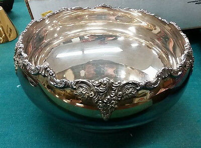 Rare Baroque by Wallace Silverplate Couped Fruit Bowl Beautiful